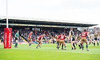 Picture by Allan McKenzie/SWpix.com - 22/04/2018 - Rugby League - Ladbrokes Challenge Cup - York City Knight v Catalans Dragons - Bootham Crescent, York, England - A general view of York playing Catalans, Ladbrokes, branding.