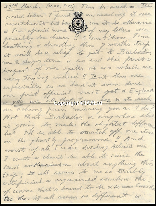BNPs.co.uk (01202 558833)<br /> Pic: IAALtd/BNPS <br /> <br /> ***Use Full Byline***<br /> <br /> Page six of Edward VIII letter. <br /> <br /> A remarkable letter written by controversial monarch Edward VIII that exposes him as an ungrateful, sexist and racist prince has come to light.<br /> The Prince of Wales, who later became the first King to voluntarily abdicate, told of the 'miserable and loathsome' time he was having on a Caribbean cruise.<br /> He visited Barbados in 1920 in what was supposed to be a diplomatic trip of the British Empire but he described the tropical paradise as a 'bum place'.<br /> The Royal reported the local scenery as being 'ugly' and he found the 'coloured population' to be 'revolting'.<br /> The letter is being sold on Saturday in London.