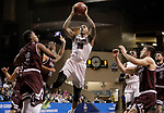 SIOUX FALLS, SD: MARCH 23: Thomas Wimbush #20 from Fairmont State shoots over the defense from Bellarmine during the Men's Division II Basketball Championship Tournament on March 23, 2017 at the Sanford Pentagon in Sioux Falls, SD. (Photo by Dick Carlson/Inertia)