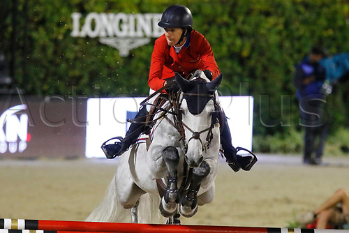 30th September 2017, Real Club de Polo de Barcelona, Barcelona, Spain; Longines FEI Nations Cup, Jumping Final;  Laura Kraut (USA) ridding Catsh Me if You Can 21