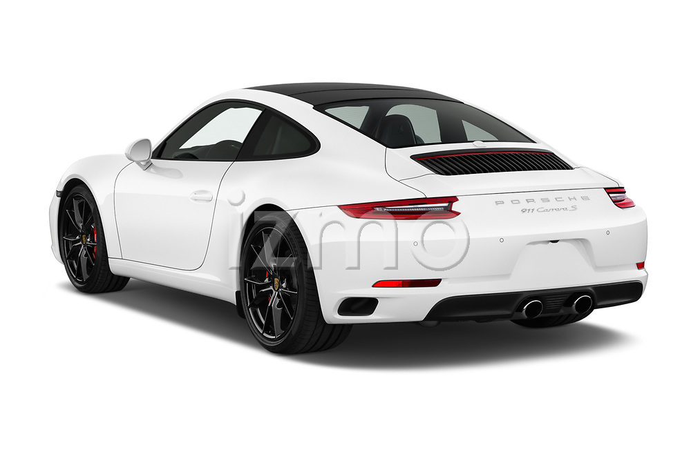Car pictures of rear three quarter view of a 2017 Porsche 911 Carrera S 2 Door Coupe angular rear