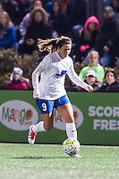 Allston, MA - Saturday, May 07, 2016: Boston Breakers forward Stephanie McCaffrey (9) during a regular season National Women's Soccer League (NWSL) match at Jordan Field.