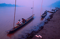 First light in the morning along the Mekong River in northern Laos