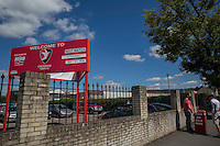 General view outside the ground ahead of the Sky Bet League 2 match between Cheltenham Town and Leyton Orient at the LCI Rail Stadium, Cheltenham, England on 6 August 2016. Photo by Mark  Hawkins / PRiME Media Images.
