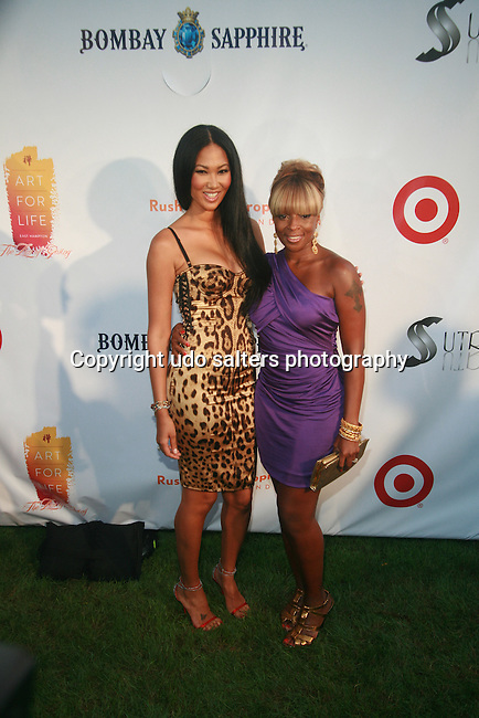 Kimora Lee Simmons and Mary J. Blige Attend Russell Simmons' 12th Annual Art for Life East Hampton Benefit, NY 7/30/11