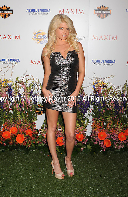 LOS ANGELES, CA. - May 19: Chanel arrives at the 11th Annual MAXIM HOT 100 Party at Paramount Studios on May 19, 2010 in Los Angeles, California.