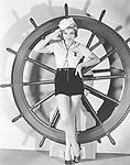 Portrait of woman in sailor costume