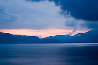 Lake Atitlan on a stormy evening.
