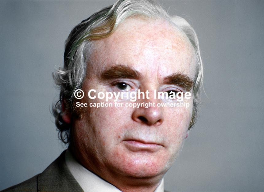 Sean Treacy, TD, Ceann Comhairle, speaker, Dail Eireann, lower house, Rep of Ireland Parliament, March 1975, 197503000172b<br />