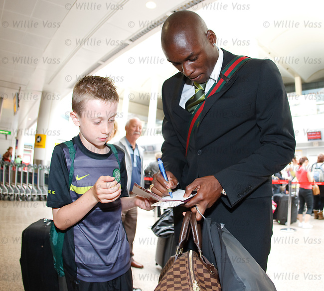 Marc-Antoine Fortune signs an autograph for a fan