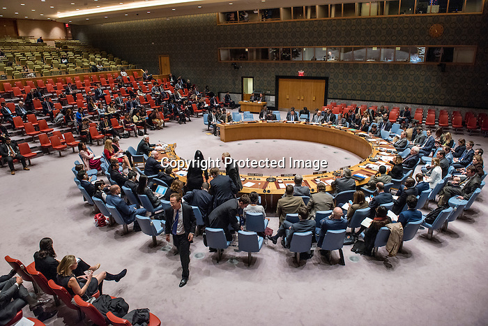 Security Council meeting<br /> The situation in the Middle East<br /> Report of the Secretary-General on the implementation of Security Council resolutions 2139 (2014), 2165 (2014), 2191 (2014) and 2258 (2015) (S/2016/873)<br /> <br /> Some members of countries leaving SC to protest for Syrians speech