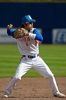 14 September 2009: Kyoung-Min Hur of South Korea throws the ball during the 2009 Baseball World Cup Group F second round match game won 15-5 by South Korea over Great Britain, in the Dutch city of Amsterdan, Netherlands.