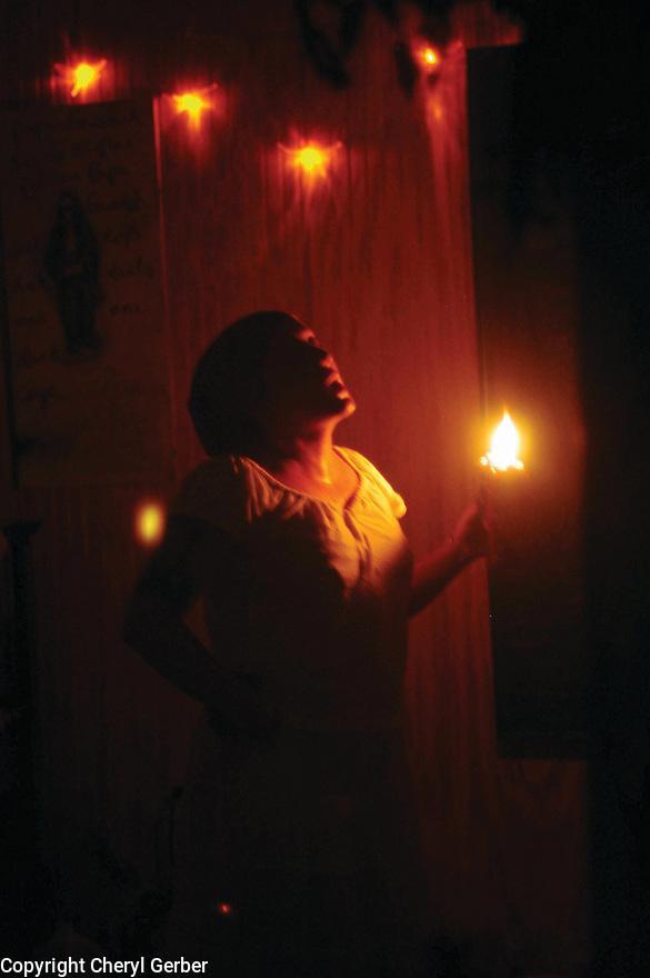 Voodoo ceremony to ward off hurricanes just weeks before Hurricane Katrina, 2005