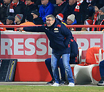 12.04.2019, Stadion an der Wuhlheide, Berlin, GER, 2.FBL, 1.FC UNION BERLIN  VS. Jahn Regensburg, <br /> DFL  regulations prohibit any use of photographs as image sequences and/or quasi-video<br /> im Bild Cheftrainer (Head Coach) Urs Fischer(1.FC Union Berlin)<br /> <br />      <br /> Foto &copy; nordphoto / Engler