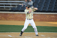 Jonathan Pryor (11) of the Wake Forest Demon Deacons at bat against the UConn Huskies at Wake Forest Baseball Park on March 17, 2015 in Winston-Salem, North Carolina.  The Demon Deacons defeated the Huskies 6-2.  (Brian Westerholt/Four Seam Images)