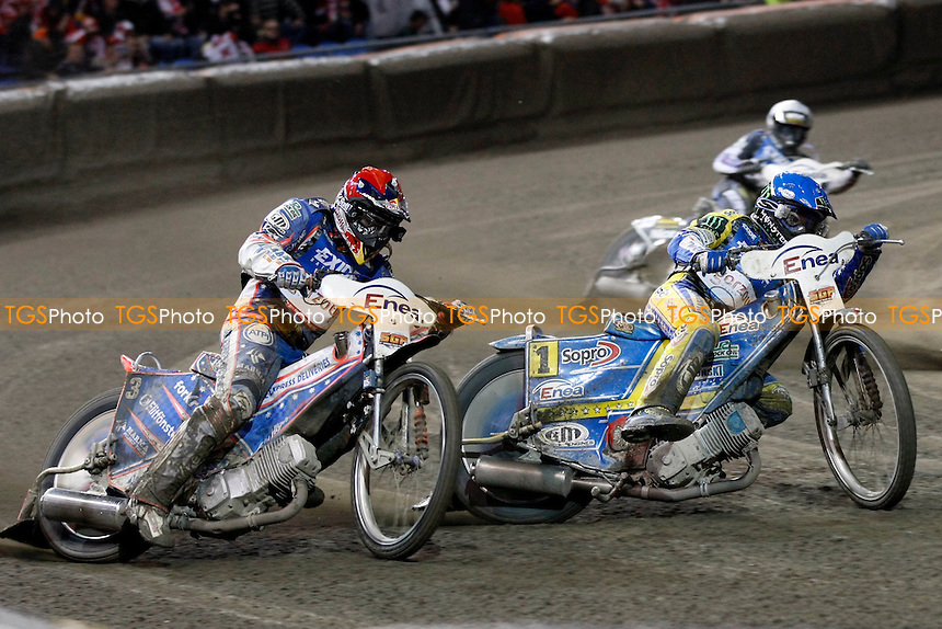 J.CRUMP(RED),T.GOLLOB(BLUE)- FIM Speedway Grand Prix at Gorzow, Poland - 08/10/11 - MANDATORY CREDIT: Rafal Wlosek/TGSPHOTO - Self billing applies where appropriate - 0845 094 6026 - contact@tgsphoto.co.uk - NO UNPAID USE.