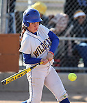 Western Nevada's Andrea Lee bats in a college softball game against College of Southern Idaho in Carson City, Nev., on Friday, March 22, 2013..Photo by Cathleen Allison