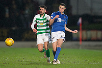 29th January 2020; McDairmid Park, Perth, Perth and Kinross, Scotland; Scottish Premiership Football, St Johnstone versus Celtic; Wallace Duffy of St Johnstone and Greg Taylor of Celtic