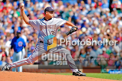 2 July 2005: Tony Armas Jr., starting pitcher for the Washington Nationals, on the mound during a game against the Chicago Cubs. The Nationals defeated the Cubs 4-2 in front of 40,488 at Wrigley Field in Chicago, IL. Mandatory Photo Credit: Ed Wolfstein