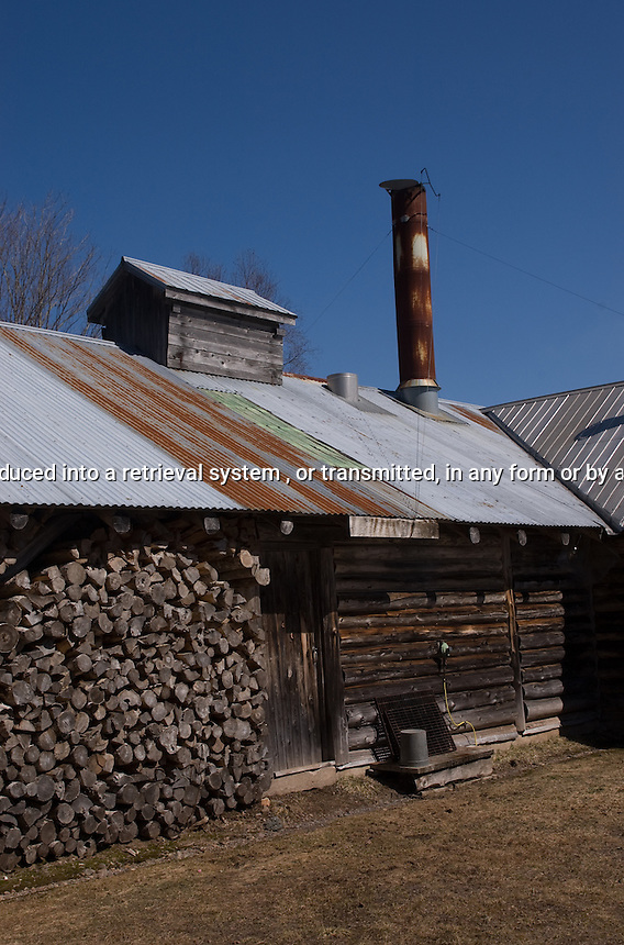 Sugaring off Shack for Maple Syrup Nova Scotia Canada North America