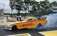 Jun. 2, 2012; Englishtown, NJ, USA: NHRA funny car driver Jeff Arend during qualifying for the Supernationals at Raceway Park. Mandatory Credit: Mark J. Rebilas-