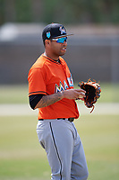 Miami Marlins Cito Culver (23) during a Minor League Spring Training Intrasquad game on March 27, 2018 at the Roger Dean Stadium Complex in Jupiter, Florida.  (Mike Janes/Four Seam Images)