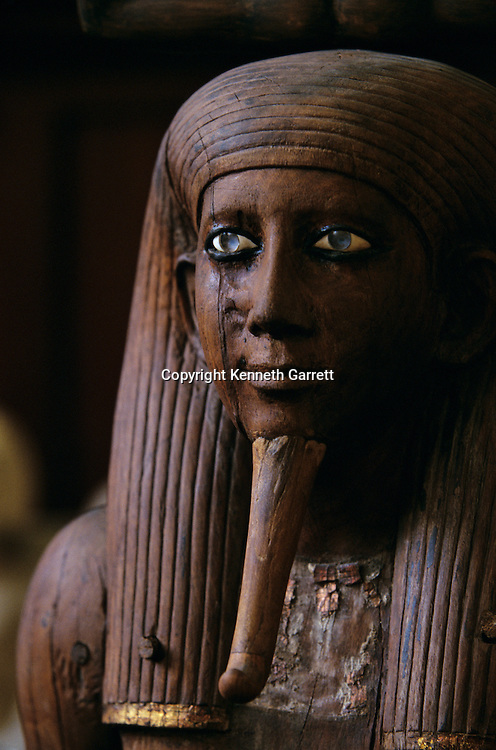 Wooden statue of Hor, life sized, Middle Kingdom, Egypt, Egyptian Museum, Cairo