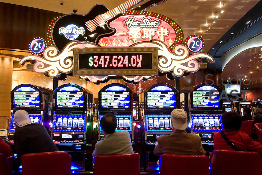 Slot machines in City of dreams casino, in Macao, China, on December 17, 2009. Photo by Lucas Schifres/Pictobank