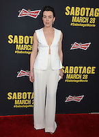 Olivia Williams at the premiere of her movie &quot;Sabotage&quot; at Regal Cinemas L.A. Live.<br /> March 19, 2014  Los Angeles, CA<br /> Picture: Paul Smith / Featureflash