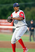 June 27th 2008:  Starting Pitcher Freddy Ballestas (47) of the Williamsport Crosscutters, Class-A affiliate of the Pittsburgh Pirates, during a game at Russell Diethrick Park in Jamestown, NY.  Photo by:  Mike Janes/Four Seam Images