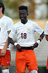 11 September 2015: Virginia's Edward Opoku. The Duke University Blue Devils hosted the University of Virginia Cavaliers at Koskinen Stadium in Durham, NC in a 2015 NCAA Division I Men's Soccer match. The game ended in a 2-2 tie after overtime.