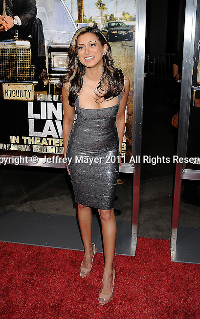 """HOLLYWOOD, CA - MARCH 10: Noureen DeWulf arrives at the """"The Lincoln Lawyer"""" Los Angeles Screening at ArcLight Cinemas on March 10, 2011 in Hollywood, California."""