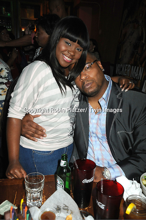 Shenell Edmonds and Sean Ringgold attend The One Life To Live Benefit for The Amber Roach Memorial Garden on January 7, 2012 at Brother .Jimmy's BBQ Union Square Restaurant in New York City.