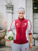 Portrait of Mery Tanovic, a football player for U-19 Women National Team of Bosnia and Herzegovina.