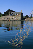 Europe/France/Bretagne/56/Morbihan/Golfe du Morbihan: Le moulin de Pen Castel (XIIème), Moulin à marée
