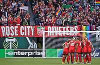 Portland, OR - Saturday July 09, 2016: Portland Thorns FC  during a regular season National Women's Soccer League (NWSL) match between the Portland Thorns FC and FC Kansas City at Providence Park.