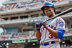 29 April 2017: New York Mets outfielder Curtis Granderson stands on deck during the first inning against the Washington Nationals at Nationals Park in Washington, DC. The Mets defeated the Nationals 5-3 to take the second game of their 3-game weekend series. Mandatory Credit: Ed Wolfstein Photo *** RAW (NEF) Image File Available ***