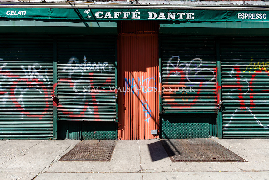 New York, NY 23 March 2015 - Caffe Dante, one of the few remaining MacDougal Street Coffee Houses, closed today after more than a hundred years in business.