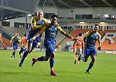 18/12/18 The Emirates FA Cup, 2nd Round Replay Blackpool v Solihull Moor<br /> <br /> Alex Gudger celebrates with Adi Yussuf