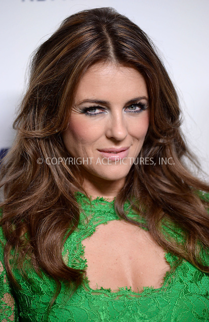WWW.ACEPIXS.COM<br /> May 15, 2014 New York City<br /> <br /> Elizabeth Hurley attending NBCUniversal Cable Entertainment Upfront at the Javits Center in New York City on Thursday, May 15, 2014.<br /> <br /> Please byline: Kristin Callahan/ACE Pictures<br /> <br /> ACEPIXS.COM<br /> <br /> Tel: (212) 243 8787 or (646) 769 0430<br /> e-mail: info@acepixs.com<br /> web: http://www.acepixs.com