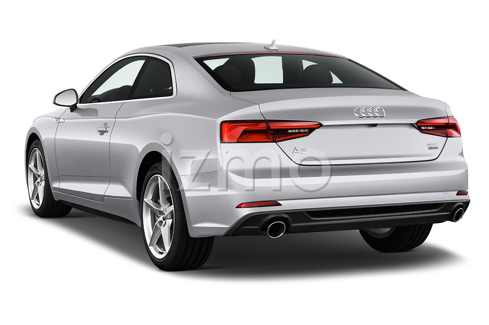 Car pictures of rear three quarter view of 2018 Audi A5  Premium 2 Door Coupe angular rear