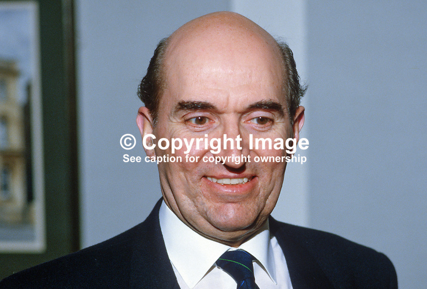 Victor Chambers, chief executive, Ulster Bank, N Ireland, UK, 19850023VC.<br /> <br /> Copyright Image from Victor Patterson, 54 Dorchester Park, <br /> Belfast, UK, BT9 6RJ<br /> <br /> t1: +44 28 9066 1296 (from Rep of Ireland 048 9066 1296)<br /> t2: +44 28 9002 2446 (from Rep of Ireland 048 9002 2446)<br /> m: +44 7802 353836<br /> <br /> e1: victorpatterson@me.com<br /> e2: victorpatterson@gmail.com<br /> www.victorpatterson.com<br /> <br /> Please see my Terms and Conditions of Use at www.victorpatterson.com. It is IMPORTANT that you familiarise yourself with them.<br /> <br /> Images used on the Internet must be visibly watermarked i.e. &copy; Victor Patterson<br /> within the body of the image and copyright metadata must not be deleted. Images <br /> used on the Internet have a size restriction of 4kbs and will be chargeable at current<br />  NUJ rates unless agreed otherwise.<br /> <br /> This image is only available for the use of the download recipient i.e. television station, newspaper, magazine, book publisher, etc, and must not be passed on to any third <br /> party. It is also downloaded on condition that each and every usage is notified within 7 days to victorpatterson@me.com<br /> <br /> The right of Victor Patterson to be identified as the author is asserted in accordance with The Copyright Designs And Patents Act (1988). All moral rights are asserted.