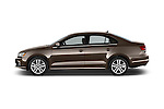 Car Driver side profile view of a 2015 Volkswagen Jetta 2.5L SEL 4 Door Sedan Side View
