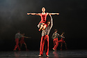 Birmingham Royal Ballet in dress rehearsal for IN THE UPPER ROOM, choreographed by Twyla Tharp, as part of their mixed bill, &quot;Polarity &amp; Proximity&quot;, at Sadler's Wells. The cast is: Ruth Brill, Laura Purkiss, Jade Heusen, Tzu-Chao Chou, Tyrone Singleton, Kit Holder, <br /> Delia Mathews, Yasuo Atsuji, Miki Mizutani, Momoko Hirata, Feargus Campbell<br /> Max Maslen, C&eacute;line Gittens.