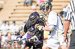 San Diego, CA 05/25/13 - Teagan Willes (Carlsbad #25) and Connor Larrick (Westview #29) in action during the 2013 Boys Lacrosse San Diego CIF DIvision 1 Championship game.  Westview defeated Carlsbad 8-3.
