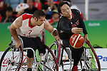 Reo Fujimoto (JPN),<br /> SEPTEMBER 15, 2016 - Wheelchair Basketball : <br /> 9th place match between Japan 65-52 Iran<br /> at Rio Olympic Arena<br /> during the Rio 2016 Paralympic Games in Rio de Janeiro, Brazil.<br /> (Photo by Shingo Ito/AFLO)
