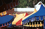 Blue Yellow Red umbrellas with tile red roof San Diego California,  California, West Coast of US, Golden State, 31st State, California, CA, Calif, Fine Art Photography by Ron Bennett, Fine Art, Fine Art photography, Art Photography, Copyright RonBennettPhotography.com ©