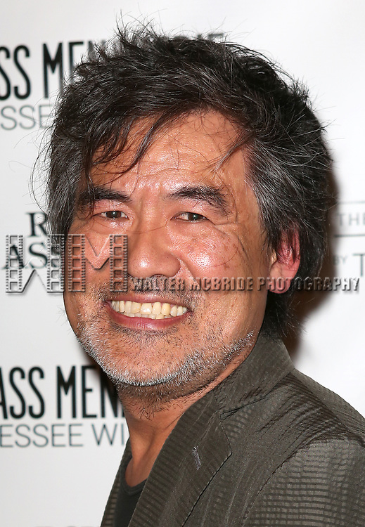David Henry-Hwang  attends the Broadway Opening Night Performance of 'The Glass Menagerie' at the Booth Theatre in New York City on September 16, 2013.
