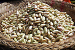 Basket of white beans at the Analakely market in Antananarivo in Madagascar