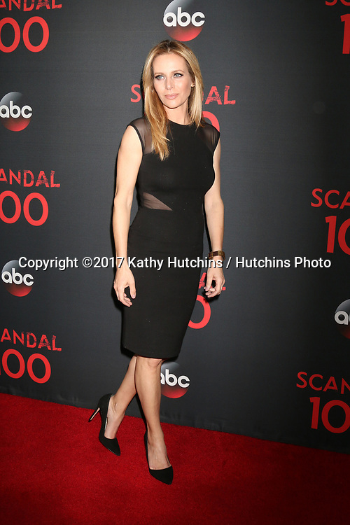 "LOS ANGELES - APR 8:  Jessalyn Gilsig at the ""Scandal"" 100th Show Party at Fig & Olive Resturant on April 8, 2017 in West Hollywood, CA"